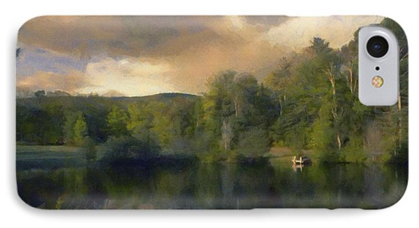 IPhone Case featuring the painting Vermont Morning Reflection by Jeff Kolker