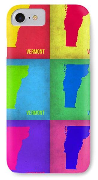 Vermont Pop Art Map 1 IPhone Case