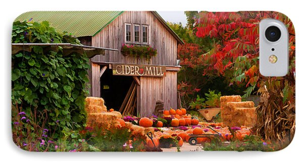 Vermont Pumpkins And Autumn Flowers IPhone Case by Jeff Folger