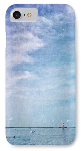 Vermont Summer Beach Boats Clouds IPhone Case by Andy Gimino