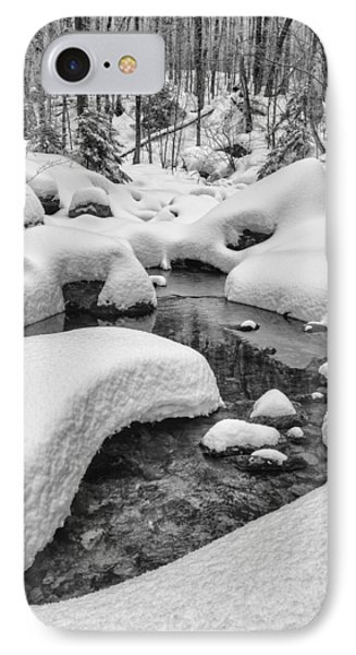 Vermont Winter Landscape Brook Forest Snow IPhone Case by Andy Gimino