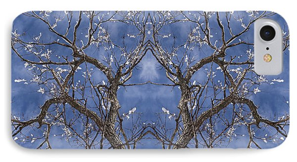 Vermont Winter Mirror Trees Snow Sky IPhone Case by Andy Gimino