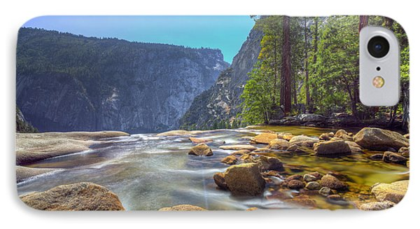 IPhone Case featuring the photograph Vernal Falls Overlook by Mike Lee