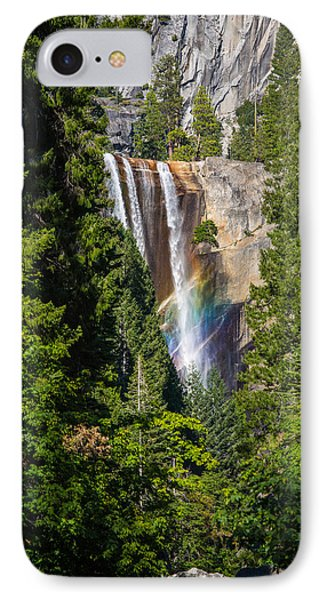 IPhone Case featuring the photograph Vernal Falls Rainbow by Mike Lee