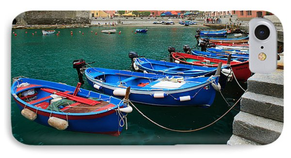 Vernazza Boats IPhone Case by Inge Johnsson