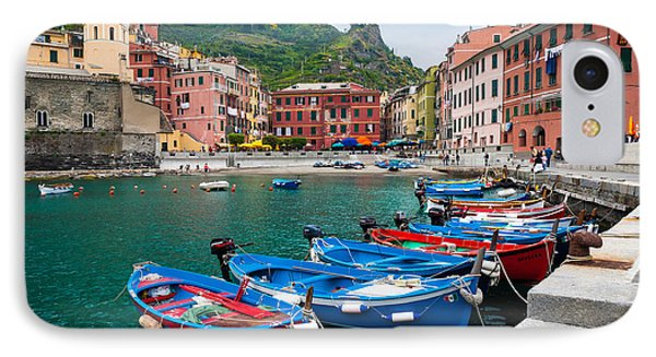 Vernazza Harbor IPhone Case by Inge Johnsson