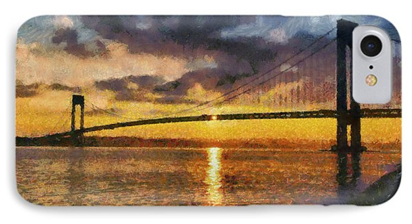 Verrazano Bridge During Sunset IPhone Case
