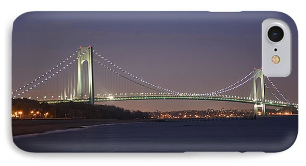 Verrazano Narrows Bridge At Night IPhone Case by Kenneth Cole