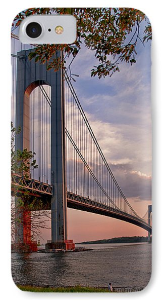 Verrazano Narrows Bridge IPhone Case by Jean-Pierre Ducondi