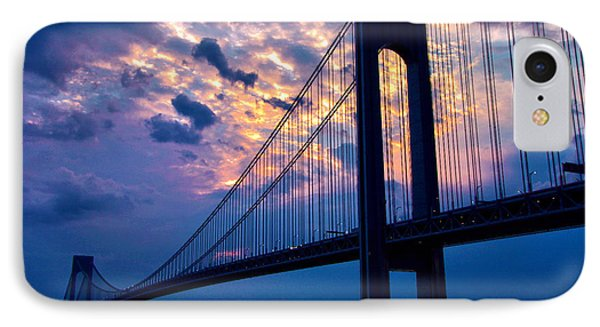 Verrazano Sky IPhone Case by Mitch Cat