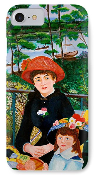 IPhone Case featuring the painting Version Of Renoir's Two Sisters On The Terrace by Cyril Maza