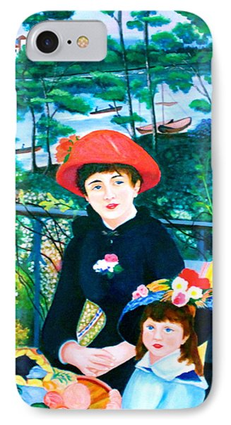Version Of Renoir's Two Sisters On The Terrace IPhone Case by Lorna Maza
