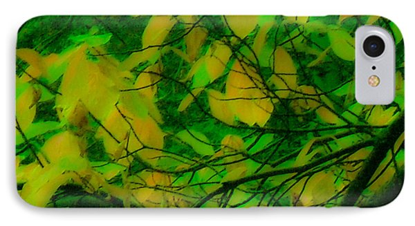 IPhone Case featuring the digital art Vert Leaves by Kristen R Kennedy