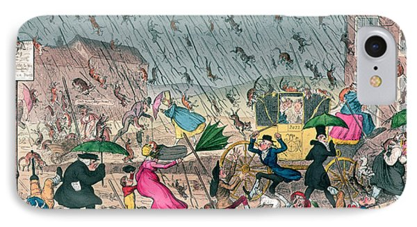 Very Unpleasant Weather IPhone Case by George Cruikshank