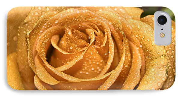 Very Wet Rose Phone Case by Debbie Portwood