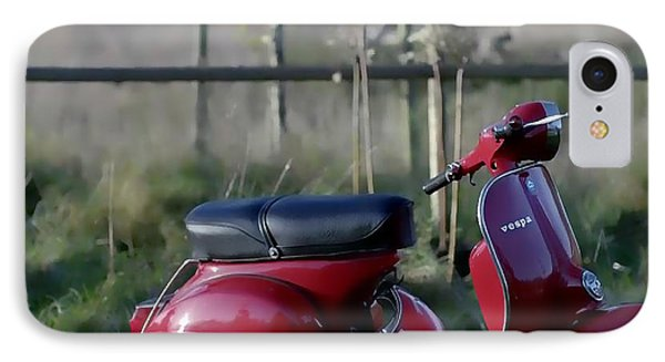 Vespa - Red Dream IPhone Case by Nenad Cerovic