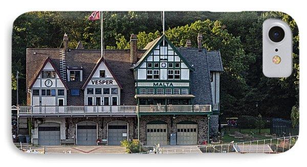 Vesper And Malta Boat Clubs Boathouse Row IPhone Case by Susan Candelario