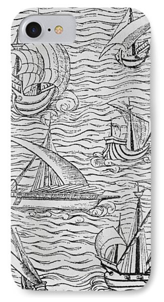 Vessels Of Early Spanish Navigators From The Narrative And Critical History Of American Phone Case by English School