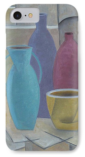 Vessels With Yellow Bowl IPhone Case by Trish Toro