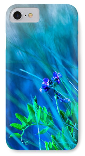 IPhone Case featuring the photograph Vetch In Blue by Adria Trail