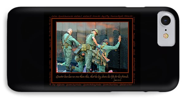 Veterans At Vietnam Wall IPhone Case