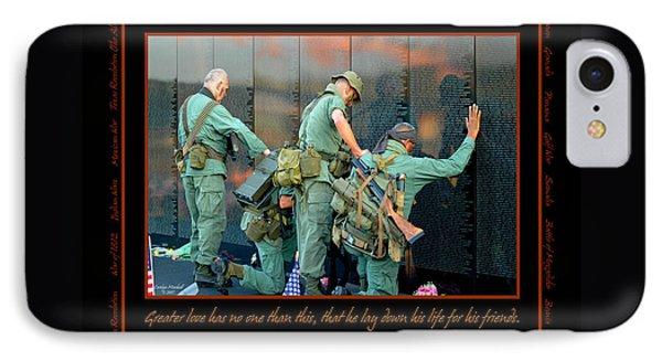 Veterans At Vietnam Wall Phone Case by Carolyn Marshall