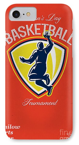 Veteran's Day Basketball Tournament Poster IPhone Case by Aloysius Patrimonio