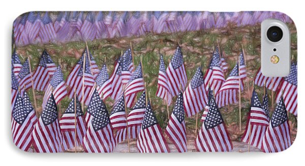 Veterans Day Display Color IPhone Case by Joan Carroll