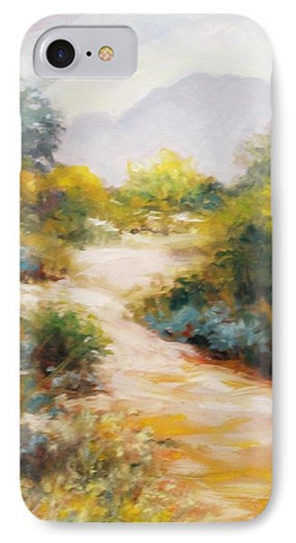 Veterans Park Pathway IPhone Case by Peggy Wrobleski