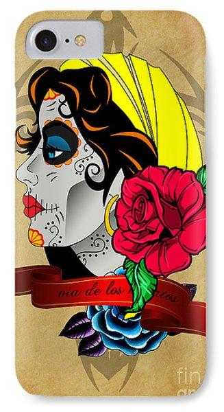 Via De Los Muertos IPhone Case by Mark Ashkenazi