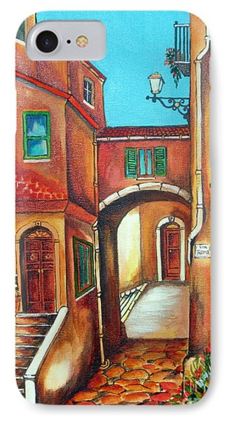 Via Roma In Tuscany Village IPhone Case