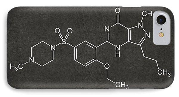 Viagra Molecular Structure Gray IPhone Case by Nikki Marie Smith