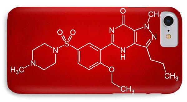 Viagra Molecular Structure Red IPhone Case by Nikki Marie Smith