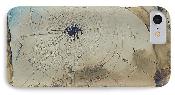 Vianden Through A Spider's Web IPhone 7 Case by Victor Hugo