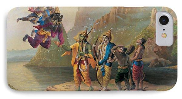 Vibhishan Meeting Ram And Lakshman IPhone Case
