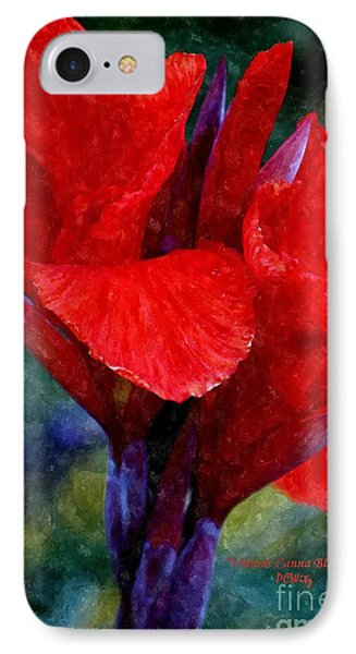 Vibrant Canna Bloom IPhone Case by Patrick Witz