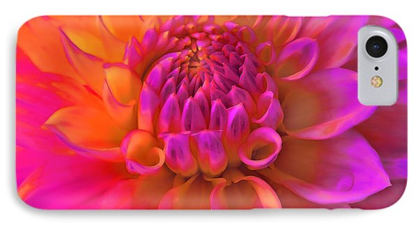 Vibrant Dahlia Flower IPhone Case