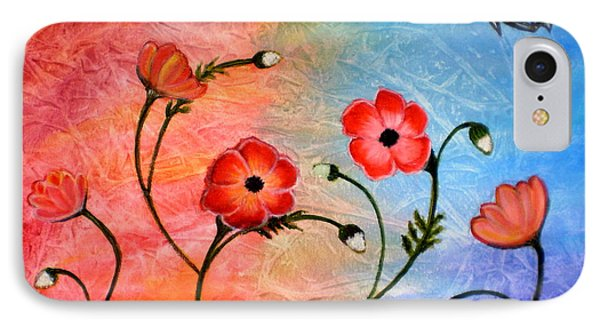 Vibrant Poppies IPhone Case