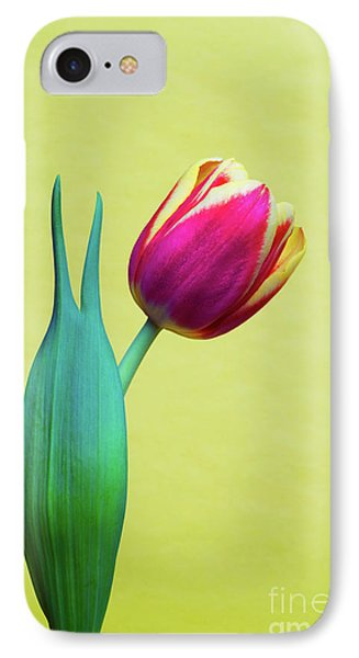 Vibrant Tulip Peace Sign   IPhone Case by Linda Matlow