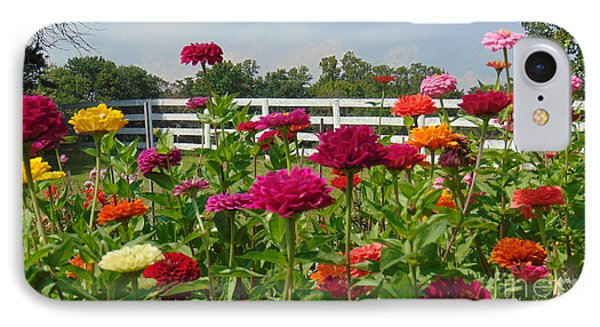 Vibrant Zinnia Garden IPhone Case by Charlotte Gray