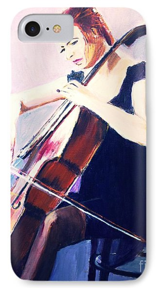 IPhone Case featuring the painting Vibrato In Blue by Judy Kay