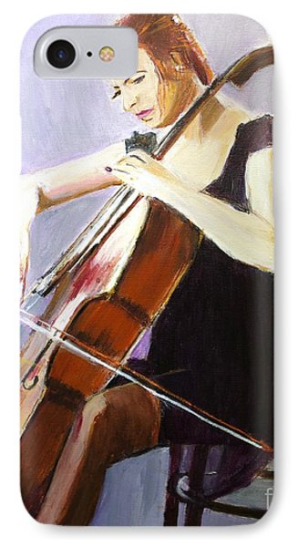 IPhone Case featuring the painting Vibrato by Judy Kay
