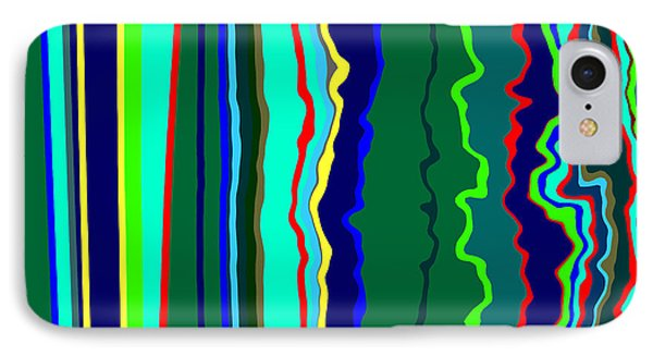 Vibrato Stripes  C2014  IPhone Case by Paul Ashby
