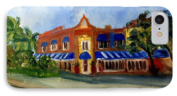 Vic And Angelos In Downtown Delray Beach IPhone Case by Donna Walsh