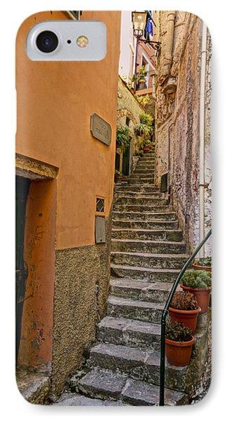 Vicolo Della Valle Riomaggiore Italy Dsc02537  IPhone Case by Greg Kluempers