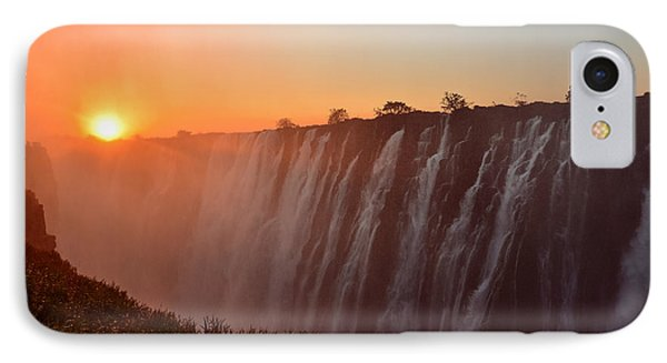 Victoria Falls At Sunset IPhone Case by Jeff at JSJ Photography
