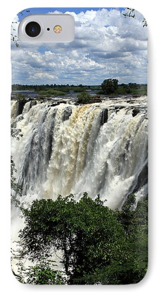 Victoria Falls On The Zambezi River IPhone Case by Aidan Moran