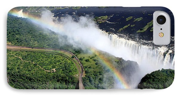 Rainbow Over Victoria Falls  IPhone Case by Aidan Moran