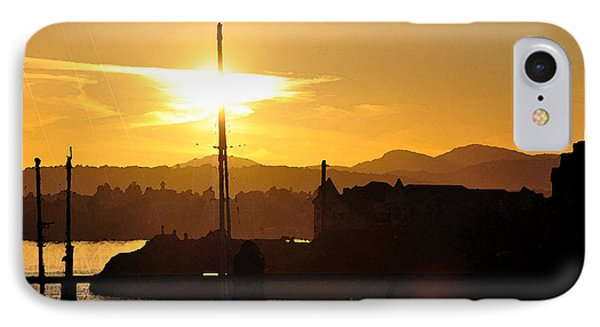 IPhone Case featuring the digital art Victoria Harbor Sunset 1 by Kirt Tisdale