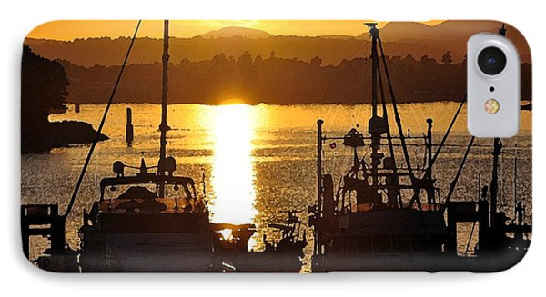 IPhone Case featuring the digital art Victoria Harbor Sunset 2 by Kirt Tisdale